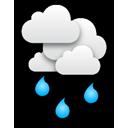 Aus dichten Wolken regnet es, vermutlich ist teilweise sogar kräftige... Klick für mehr Infos