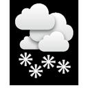 Dichte Wolken und teils anhaltender und kräftiger Schneefall.... Klick für mehr Infos