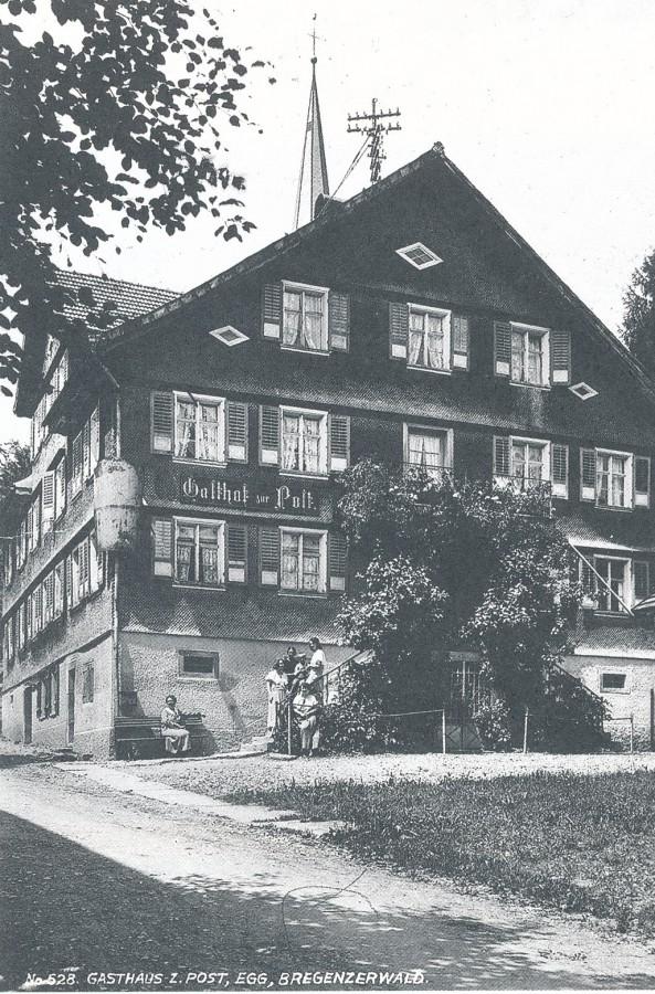 Gasthaus 'Post', Egg,  (1886 zum Goldenen Adler)