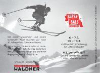 Sport Waldner: SUPER SALE in Schetteregg (06. & 07.03 und 13. & 14.03)
